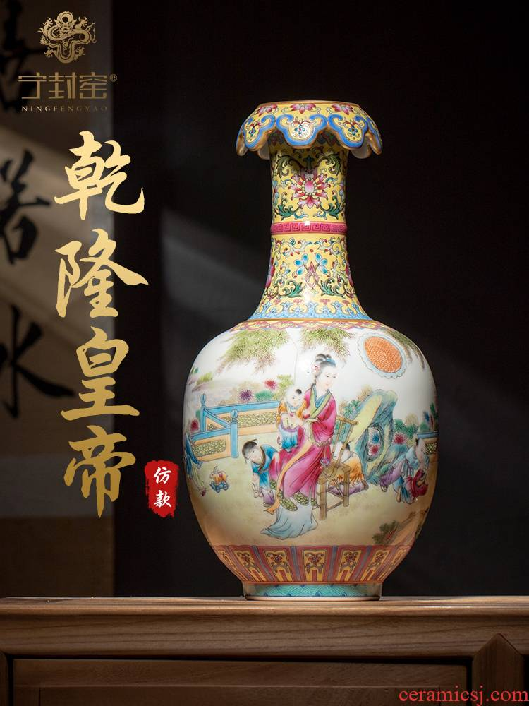 Ning hand - made antique vase seal up with jingdezhen ceramic bottle vase furnishing articles sitting room JingXian woman godson cloud expressions using bottle