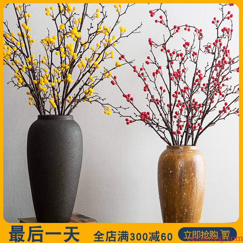 Like a flower ceramic vase furnishing articles sitting room flower arranging flower implement mesa adornment retro big POTS earthenware flowerpot