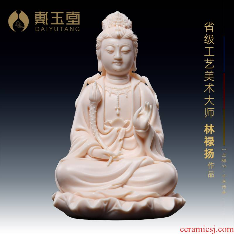 Yutang dai jade red porcelain is a horse of white marble this life Buddha Buddha bodhisattva furnishing articles 5 inches sitting lotus trend to Mr