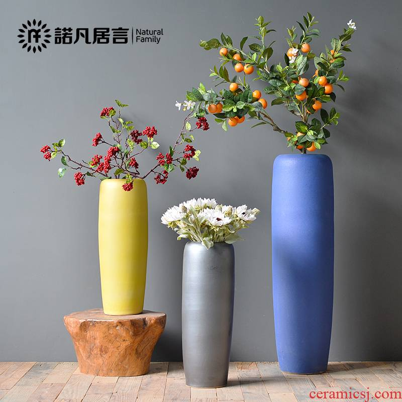 Nordic ceramic sitting room ground vase dried flowers flower arrangement furnishing articles morandi color minimalist I and contracted creative decoration