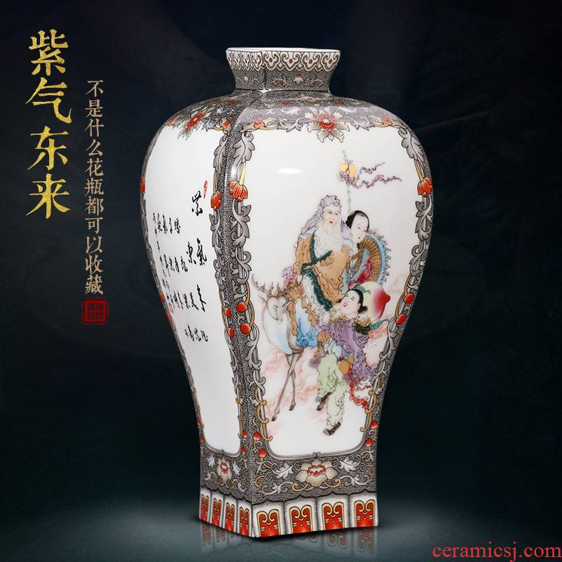 Jingdezhen ceramics Chinese vases, flower arranging is archaize furniture furnishing articles, the sitting room porch wine decorative arts and crafts