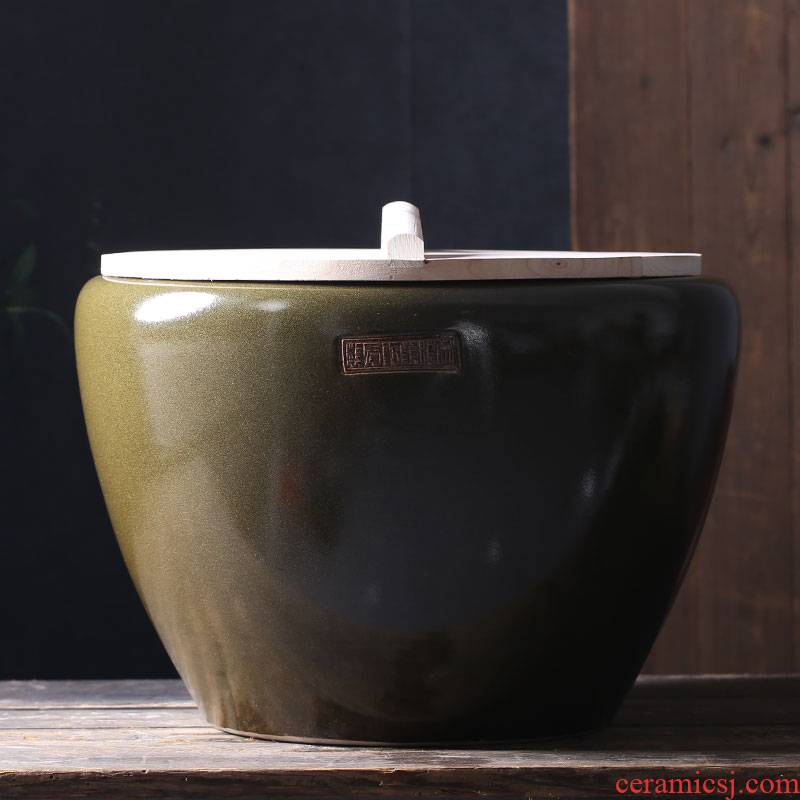 Jingdezhen ceramic tank household kitchen large cylinder barrel can of fish pickles pickled meat tank old courtyard