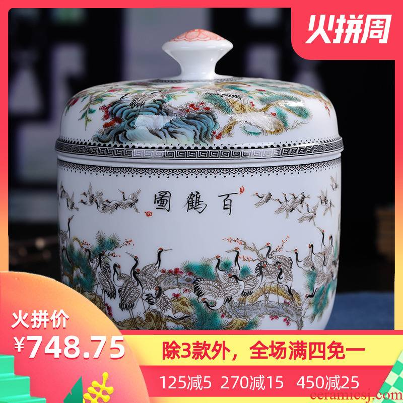 Package mail jingdezhen ceramics hand - made small caddy fixings pu 'er tea pot American seal pot furnishing articles