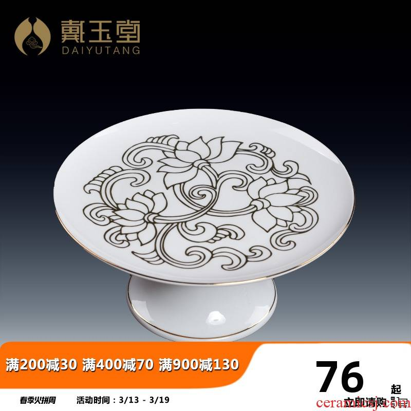 Yutang dai ceramic fruit bowl Buddha with supplies GongPan made for Buddha for plate of fruit tray before the Buddha temple consecrate furnishing articles