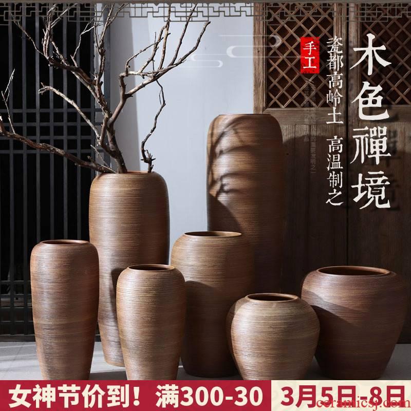 Jingdezhen I and contracted ceramic vases, flower arrangement sitting room place pottery aquarium ceramic cylinder landing large flower pot