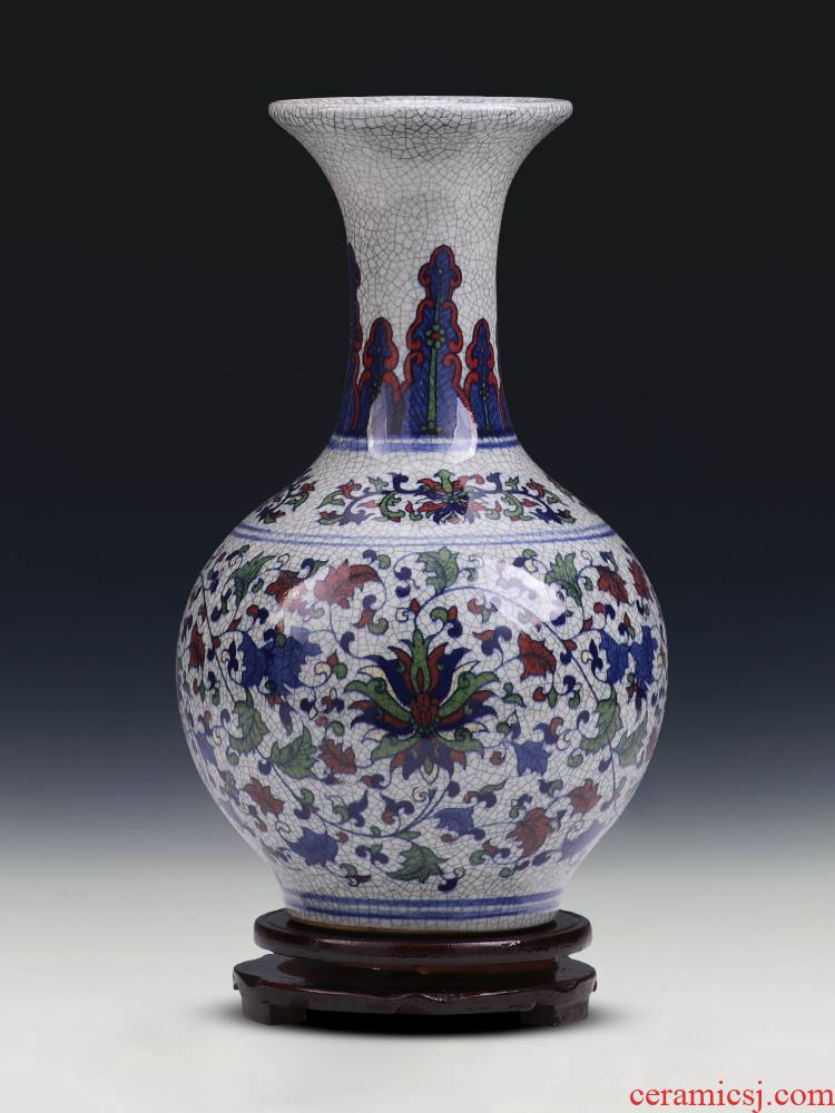 Jingdezhen ceramics vase furnishing articles antique blue and white porcelain bottle creative classical Chinese style household, sitting room adornment