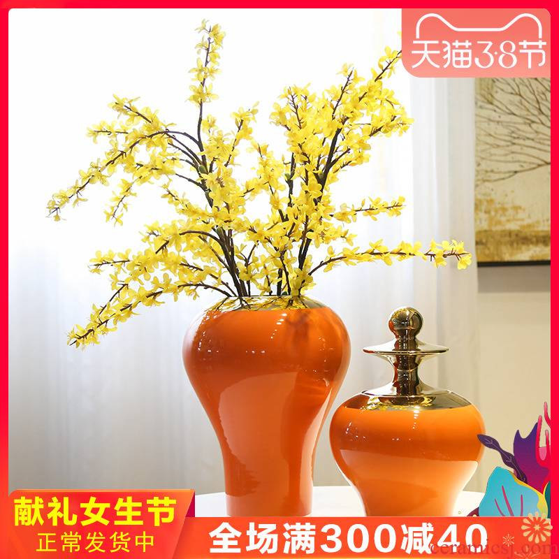 Home sitting room porch flowers mesa table is placed between example of jingdezhen ceramic flower implement new Chinese style flower decoration