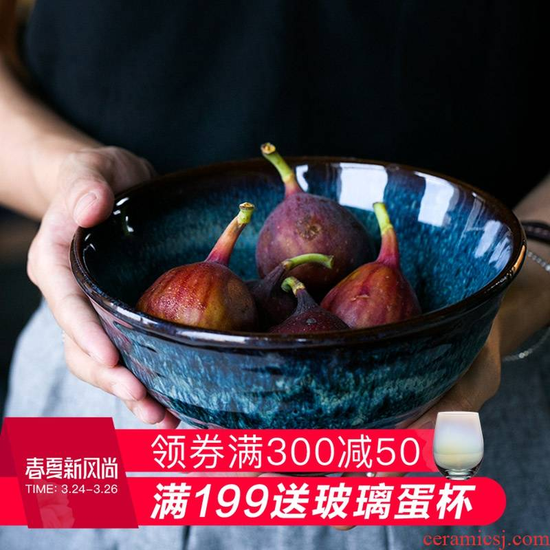 And HD peacock grain high creative ceramic bowl rainbow such as bowl with a single rice bowls bowl move Japanese dishes
