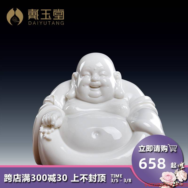 Yutang dai laughing Buddha furnishing articles dehua porcelain its art ceramics handicraft/small maitreya D38-105