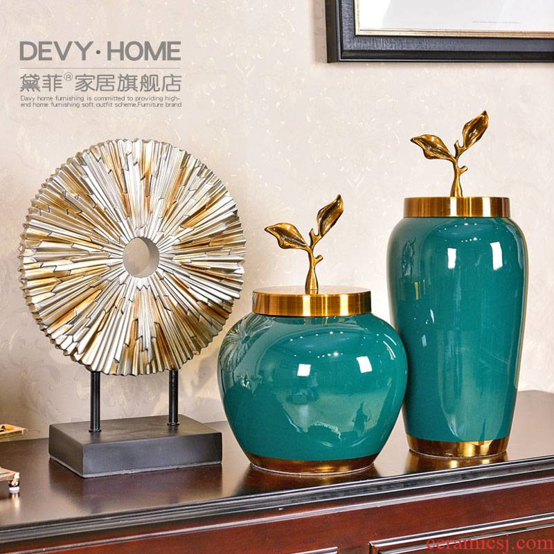 Modern light key-2 luxury furnishing articles home decoration ceramic vases, American sitting room porch of TV ark, wine table decoration