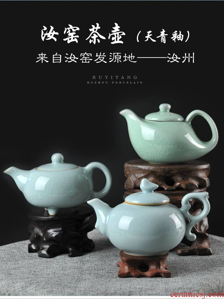 Undressed ore archaize your up ceramic teapot kung fu tea set single pot of black tea teapot side restoring ancient ways, the home office