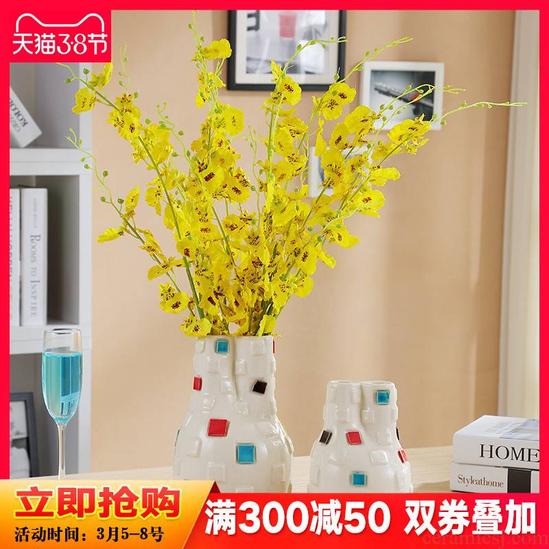 European rural ceramic vase suit I and fashionable sitting room porch TV ark, home furnishing articles