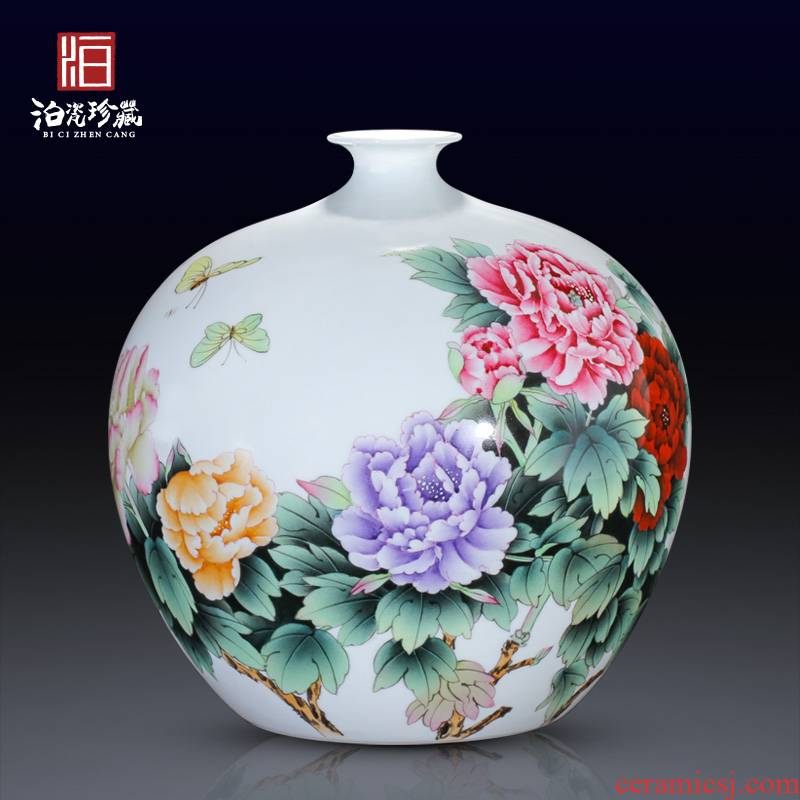 Jingdezhen ceramic master hand made porcelain vase furnishing articles rich ancient frame sitting room adornment of new Chinese style wedding decoration process