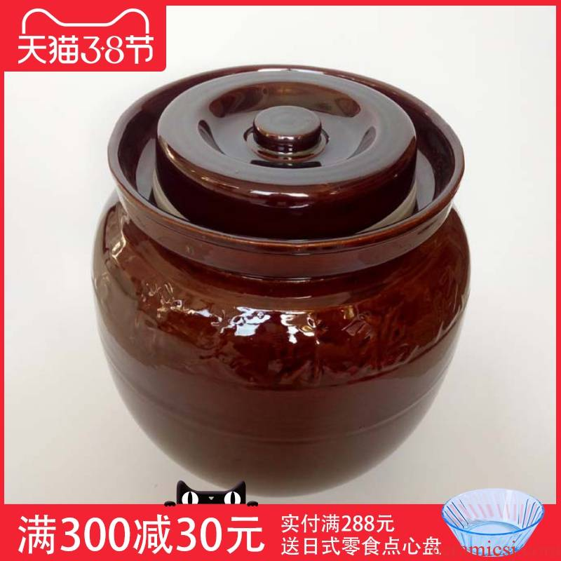 Household ceramics pickle jar sauerkraut earthenware jar pickle salting dense eggs pickle jar jar by cylinder pack