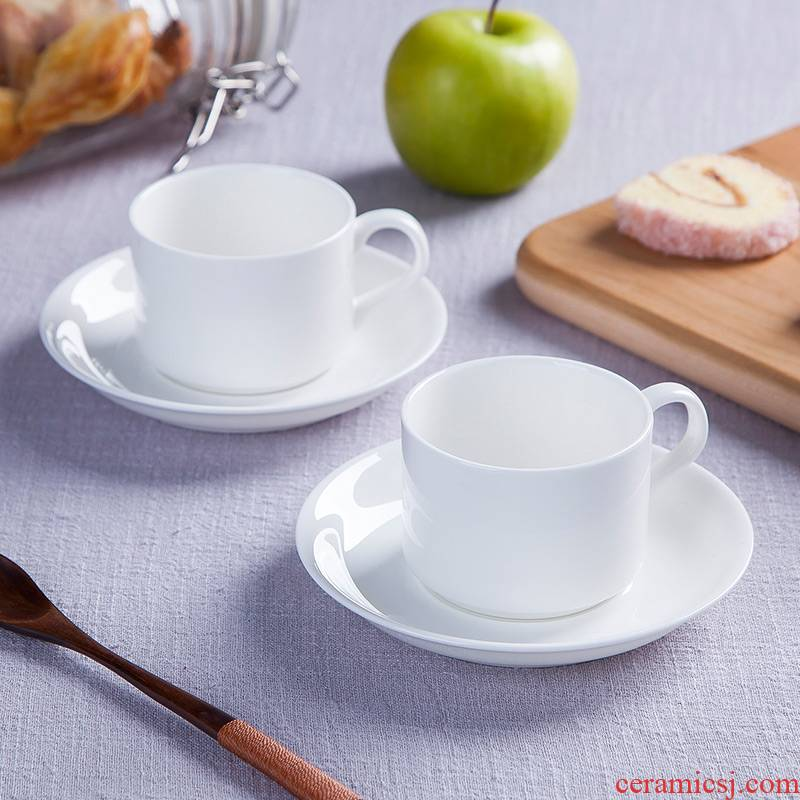 Pure white and flawless ipads porcelain of jingdezhen ceramics contracted western - style home outfit afternoon tea coffee cup set spoon