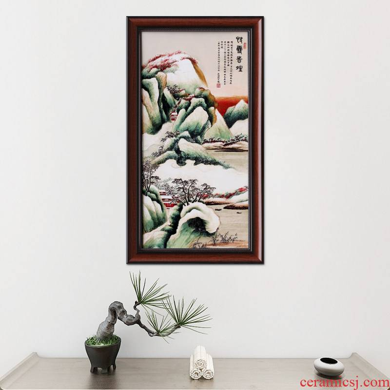 I sitting room adornment ceramic painting core Chinese porcelain plate study of new Chinese style porch hang a picture wall murals