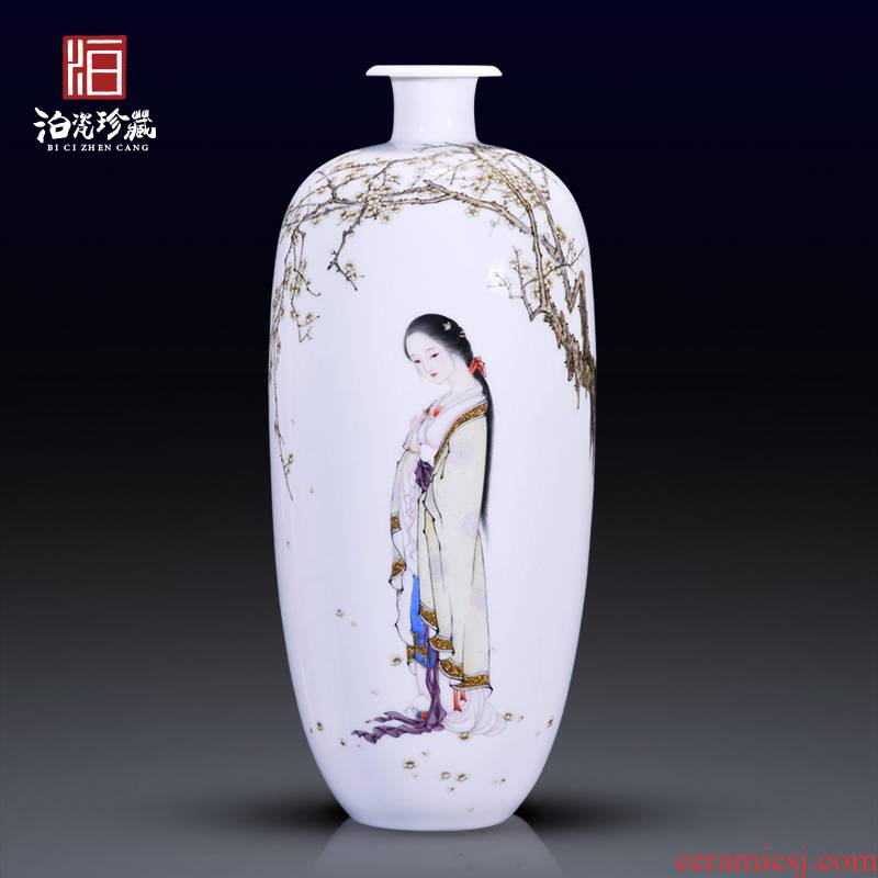 The Master of jingdezhen ceramics hand - made beauty decoration new sitting room of Chinese style household vase collection furnishing articles