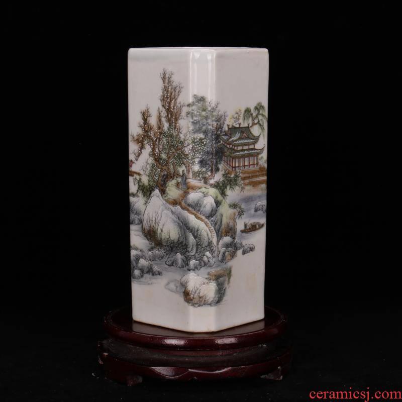 Archaize of jingdezhen porcelain brush pot antique household decoration as people the qing qianlong com.lowagie.text.paragraph antique reproduction antique furnishing articles