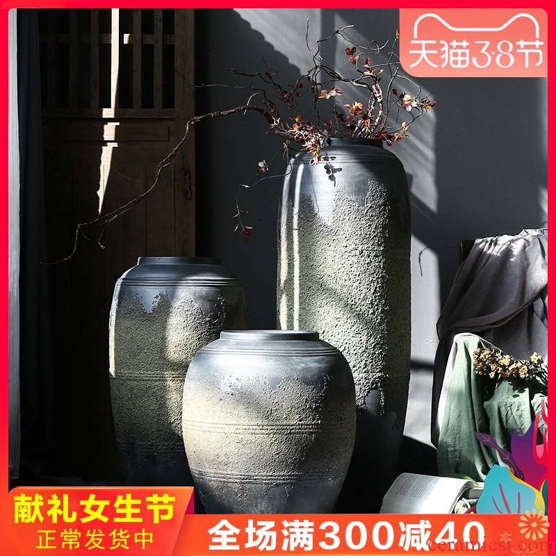 Jingdezhen retro nostalgia ceramic vase furnishing articles simulation flowers sitting room decoration decoration decoration to the hotel ground flower arrangement