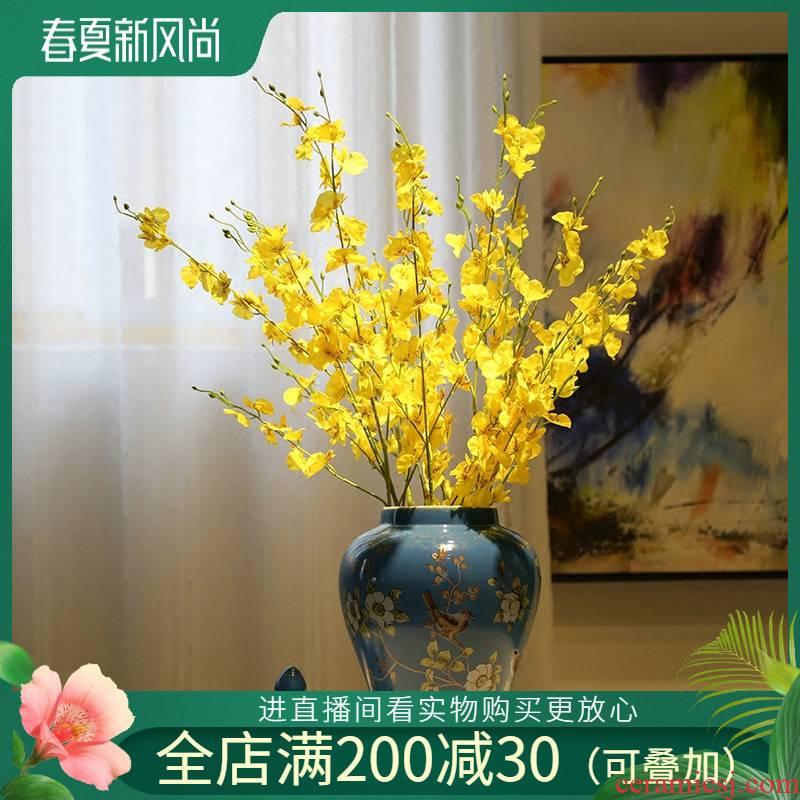 Jingdezhen ceramic general simulation flower flower flower pot vase caddy fixings candy jar furnishing articles sitting room adornment