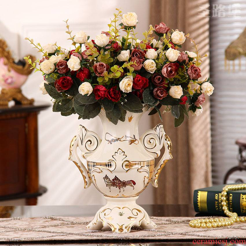 SAN road fort European sitting room adornment vase creative ceramic household act the role ofing is tasted furnishing articles new home decoration gift bag in the mail