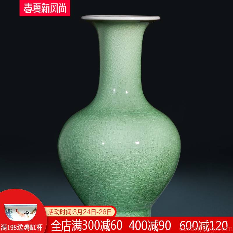 Jingdezhen ceramics manual archaize crackle vases, flower arrangement sitting room home wine ark, adornment handicraft furnishing articles