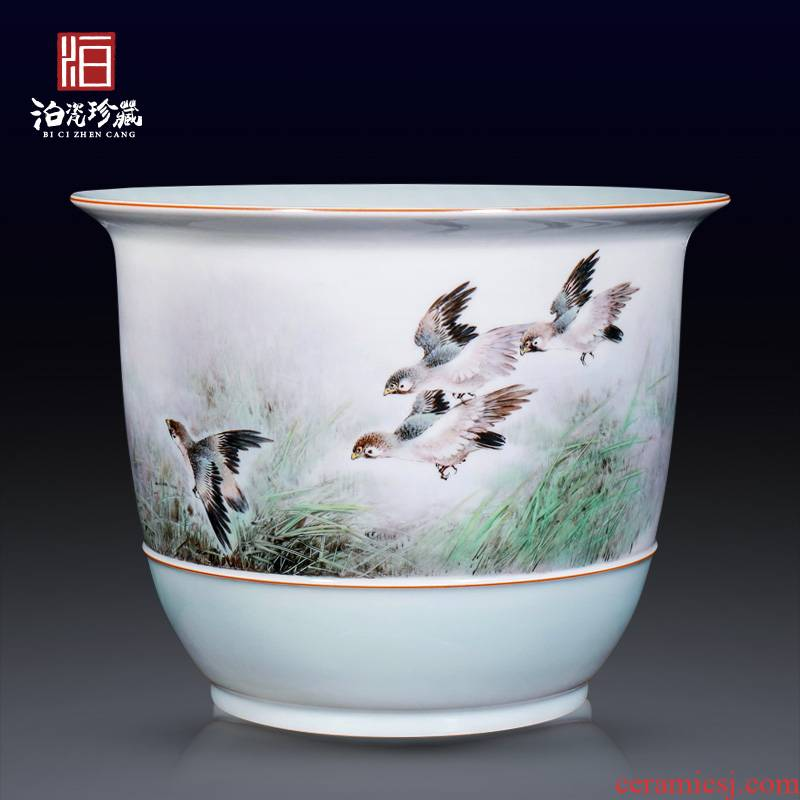 The Master of jingdezhen ceramics hand - made birds decoration vase sitting room furniture collection of new Chinese style furnishing articles
