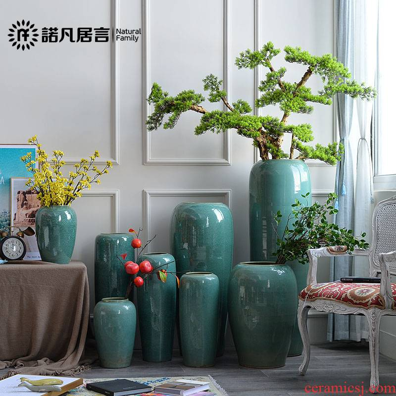 Ceramic vase of large sitting room place flower arranging dried flower hotel villa covers glaze up creative decoration decoration