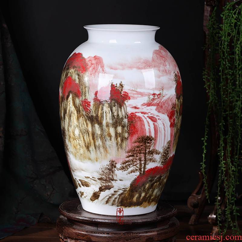 The Master of jingdezhen ceramics hand - made scenery large vases, flower arranging, home sitting room collect adornment furnishing articles