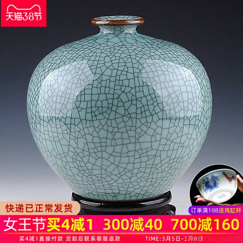 Archaize crack of jingdezhen ceramics up vase manual pomegranate bottle creative Chinese style restoring ancient ways household act the role ofing is tasted