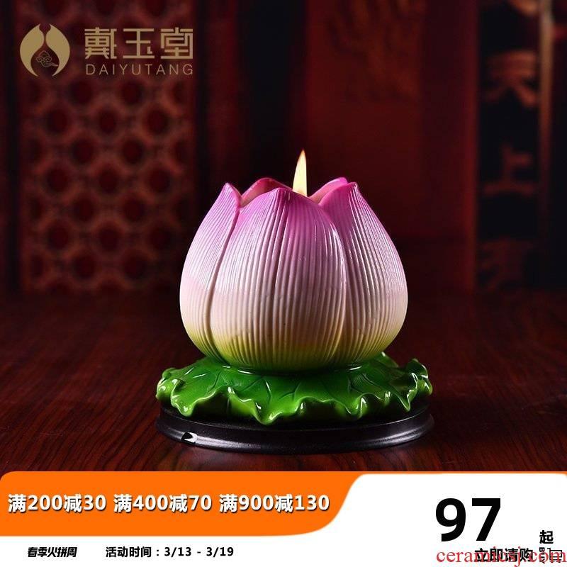 Yutang dai ceramic SuYouDeng furnishing articles to Buddhism Buddha with supplies for the eternal gong lamp/5 inches SuYouDeng D14-45