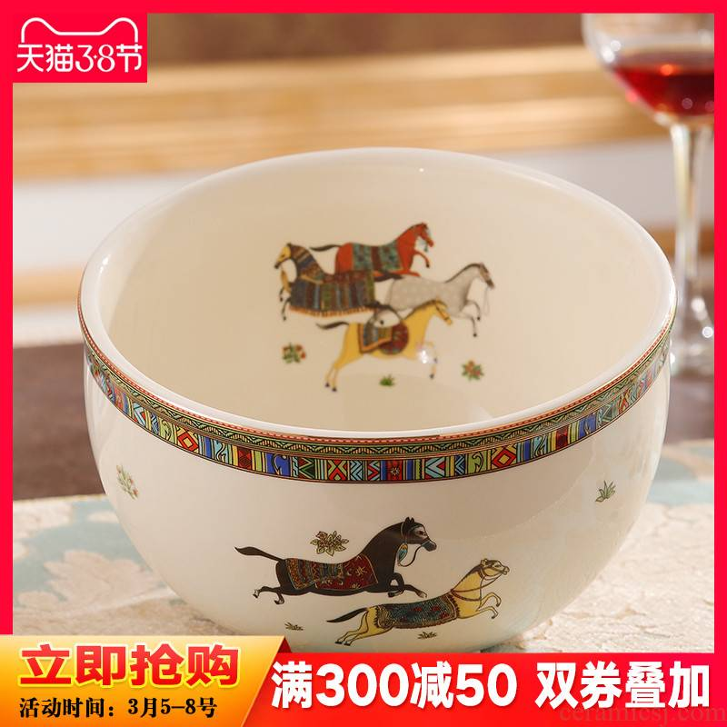 Ou mesa ceramic fruit bowl of high - end desktop without cover sitting room trash can receive a bucket of tea table utensils