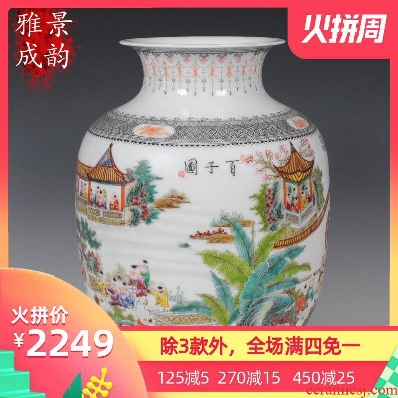 Jingdezhen ceramic vase full manual hand idea gourd Wang Rongjuan Zhang Bingxiang fashion decoration ceramics furnishing articles