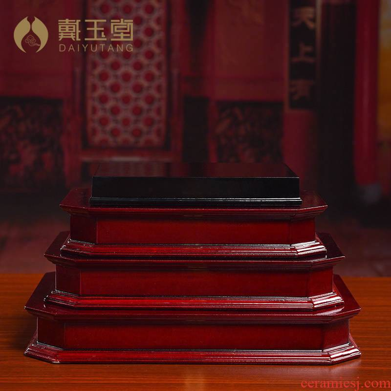 Yutang dai wood base lettering to who household guanyin Buddha base mammon high place mat base station