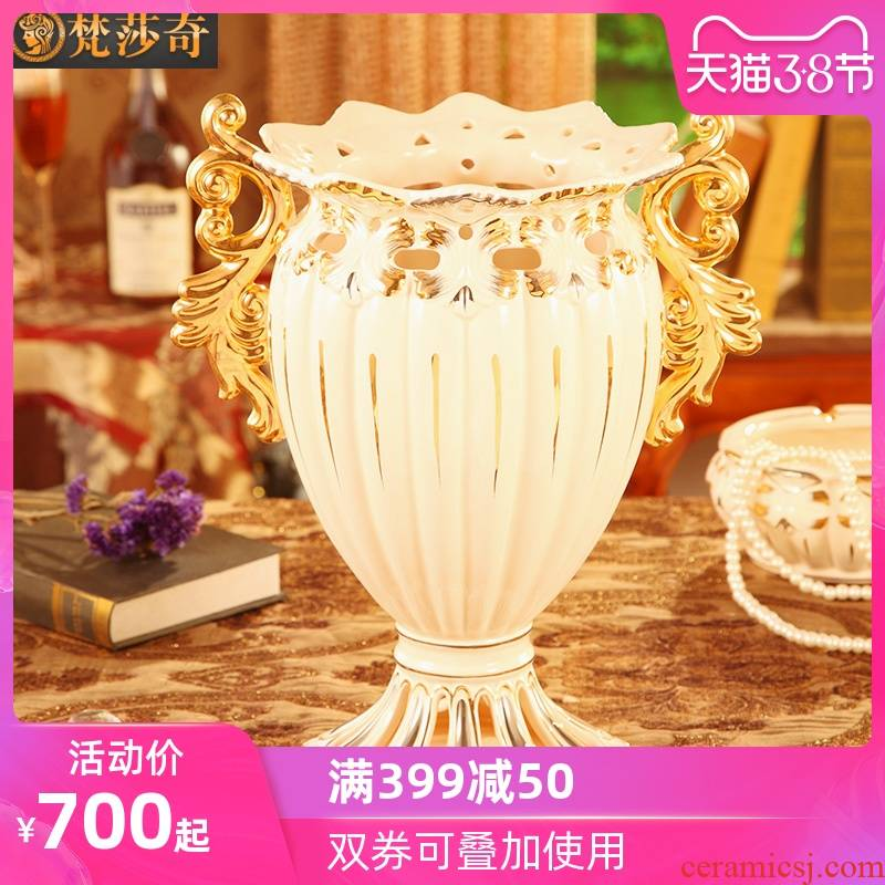 Vatican Sally European vase sitting room place villa large flower arranging exchanger with the ceramics TV ark, decoration decoration arts and crafts