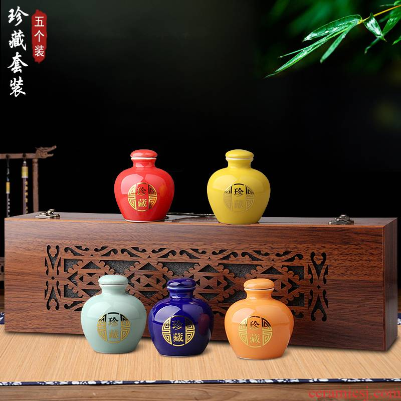 Jingdezhen ceramic bottle is two and a half a catty the an empty bottle with small and pure and fresh household sealing liquor jugs