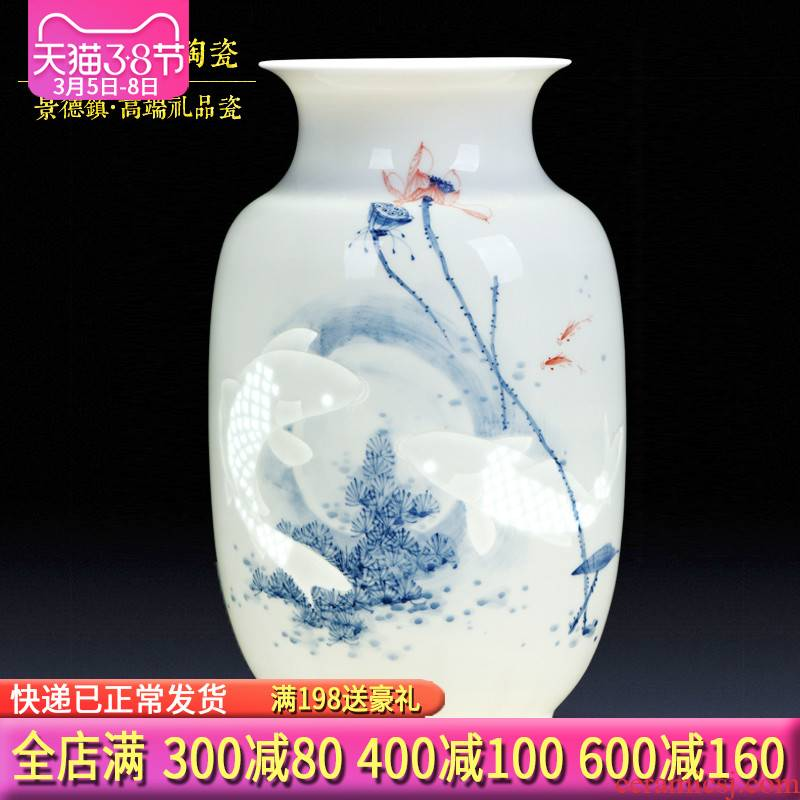 Jingdezhen ceramic checking out creative its all hand - made vases, sitting room adornment furnishing articles leading business gift