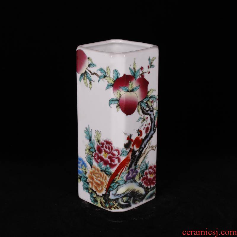"""Jingdezhen imitation porcelain industry company """"four desk pen container home decoration arts and crafts of overall antique reproduction antique furnishing articles"""