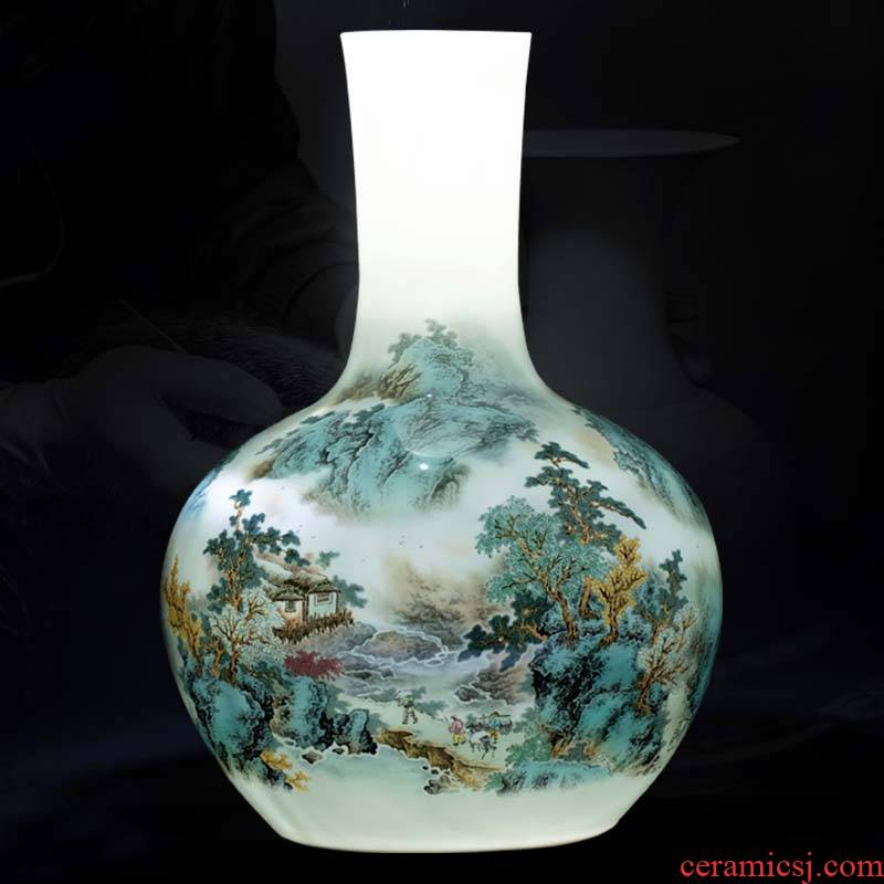 Jingdezhen ceramics thin body big vase Chinese ancient frame sitting room place to live in a TV ark, craft ornaments