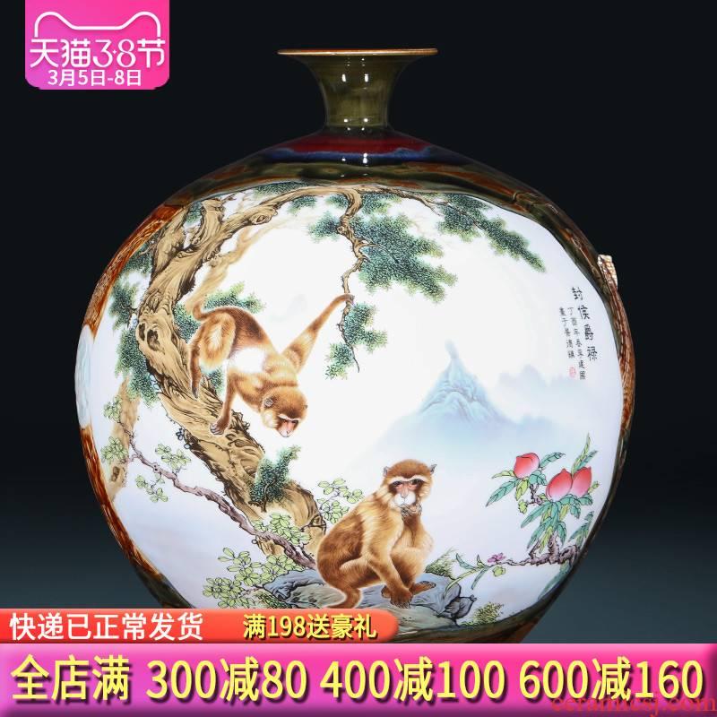 Jingdezhen ceramics craft up sealing hou JueLu big vase sitting room decoration of new Chinese style hotel furnishing articles