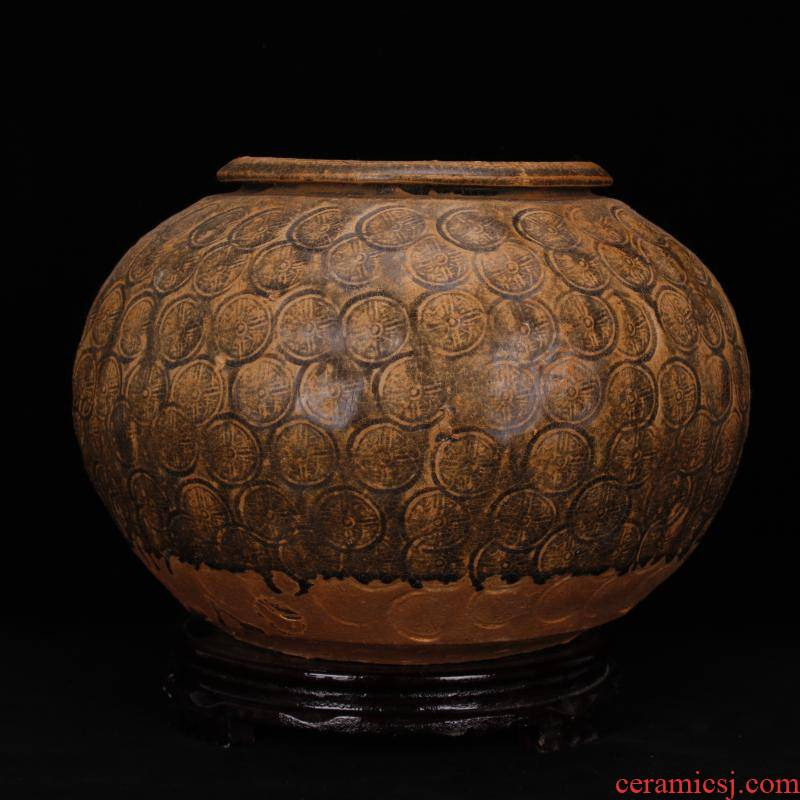 Jingdezhen manual imitation of the warring states period, the up celadon engraved bronze pattern POTS unearthed cultural relics of the ancient antique imitation antique ceramics