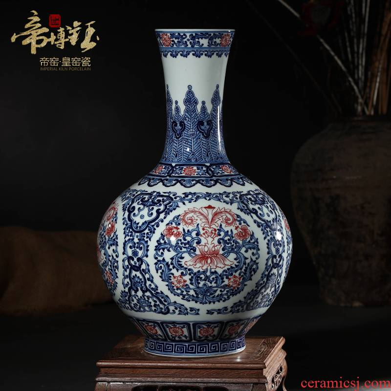 Jingdezhen ceramic vases, antique hand - made porcelain youligong sitting room of modern Chinese style decoration decorative furnishing articles