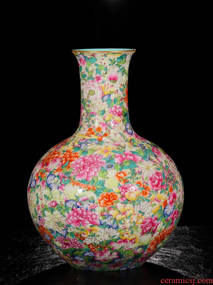 Yang Shiqi palace ceramic flower is not open with a silver spoon in its ehrs expressions using the and name the tree