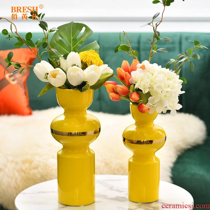 Light key-2 luxury ceramic vase floral wine TV ark, furnishing articles contracted sitting room creative fashion decoration H1003 shelf