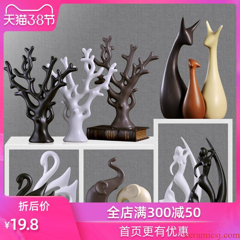 Ins creative wedding gift Nordic household wine decorate a room living room office ceramic jewelry furnishing articles