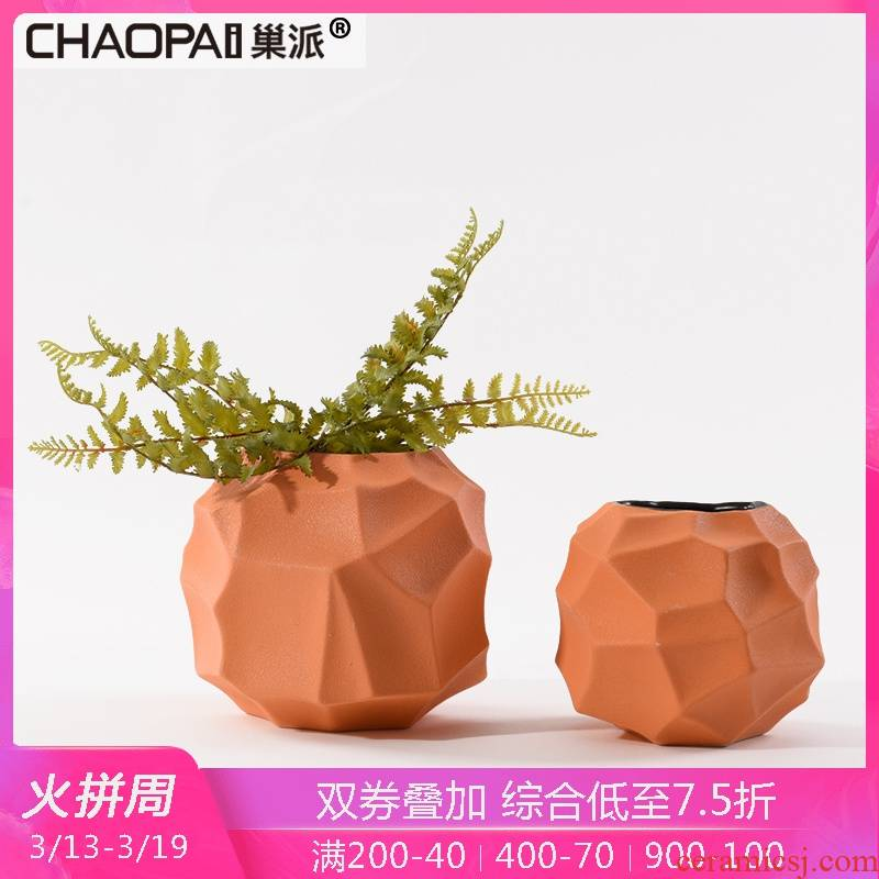 I and contracted ikea ceramic flowerpot vase furnishing articles example room sitting room more meat edge ark of tea table flower decoration