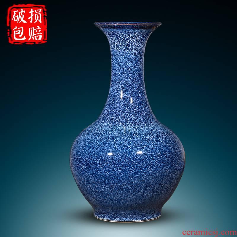 Jingdezhen ceramic vase furnishing articles variable blue porcelain creative living room flower arranging flowers, Chinese style household decorations