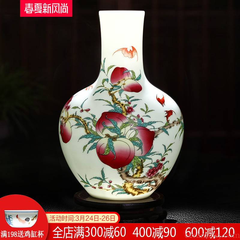 Jingdezhen ceramics live figure vase Chinese flower arranging adornment home sitting room TV ark, handicraft furnishing articles