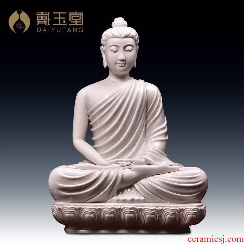 Yutang dai dehua white porcelain Zheng Jinxing amitabha Buddha master Nepal style home furnishing articles