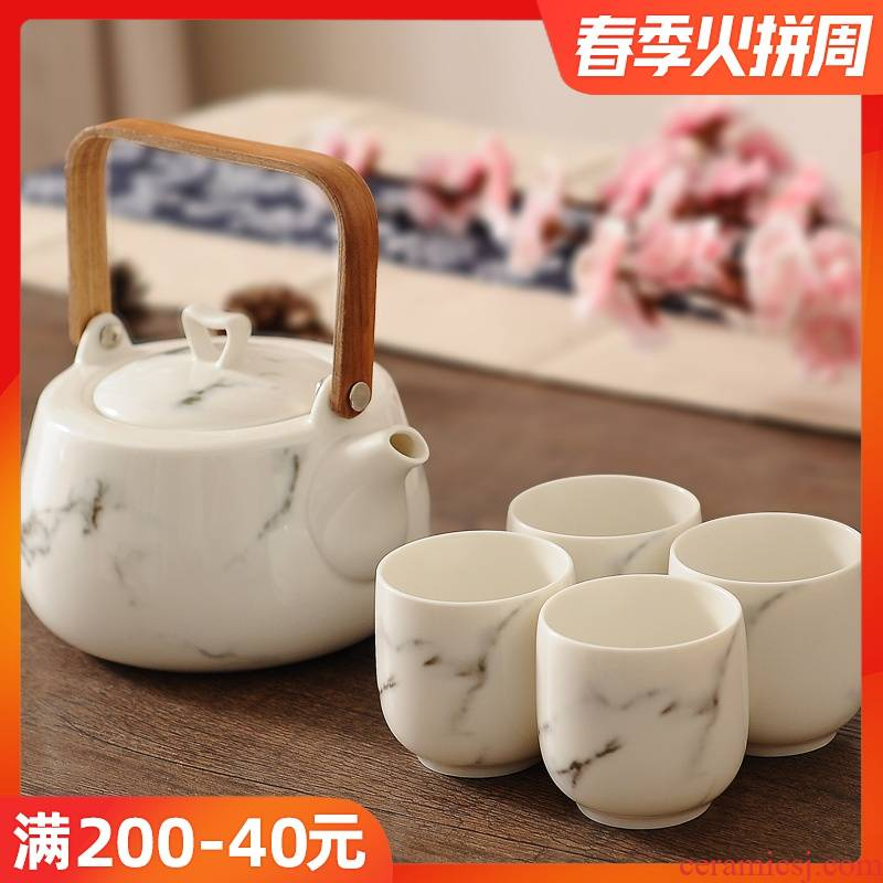 Chinese style tea pot set home tea tea cup set with ceramic cups water. A complete set of kung fu tea set